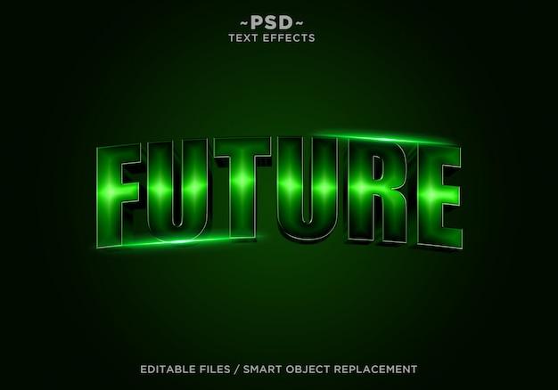 3d toekomstige filmische effect bewerkbare tekst Premium Psd