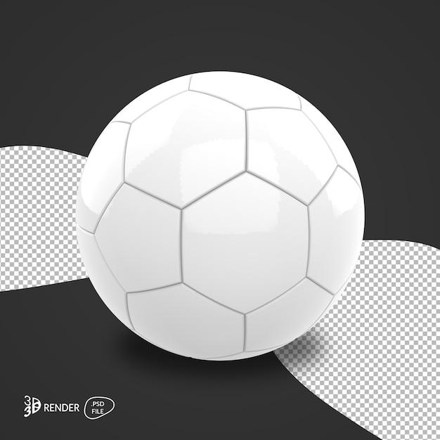 3d voetbal geeft geïsoleerd geïsoleerd terug Premium Psd