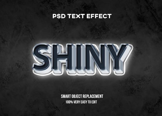 3d wit glanzend teksteffect Premium Psd