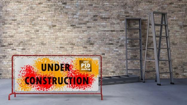 3ds lege muur en ladder Premium Psd
