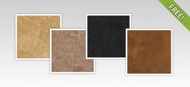 4 free leather texturen Gratis Psd