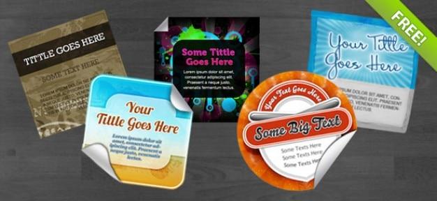 5 gratis psd stickers Gratis Psd