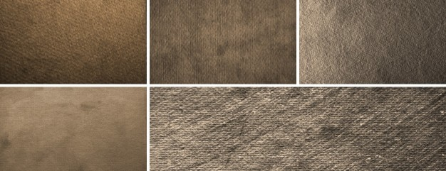 5 high resolution paper textures grungy Gratis Psd