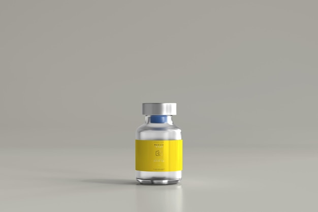 5 ml flesje fles mock-up Gratis Psd