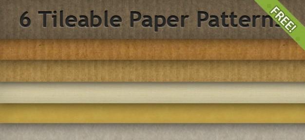 6 gratis betegelbare papier patronen Gratis Psd