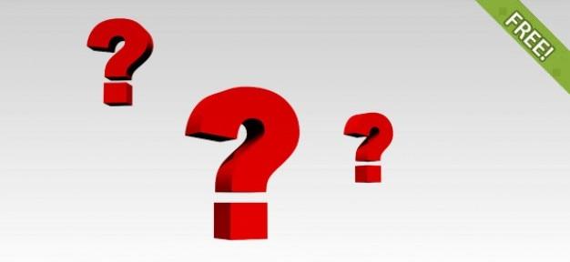 6 marcas gratis pregunta 3d PSD gratuito