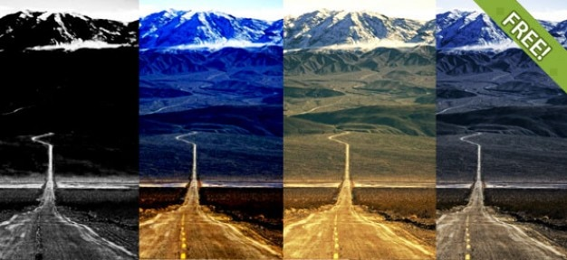 7 gratis foto-effect photoshop actions Gratis Psd