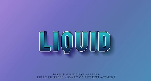 80s liquido verde effetto testo 3d stile Psd Premium