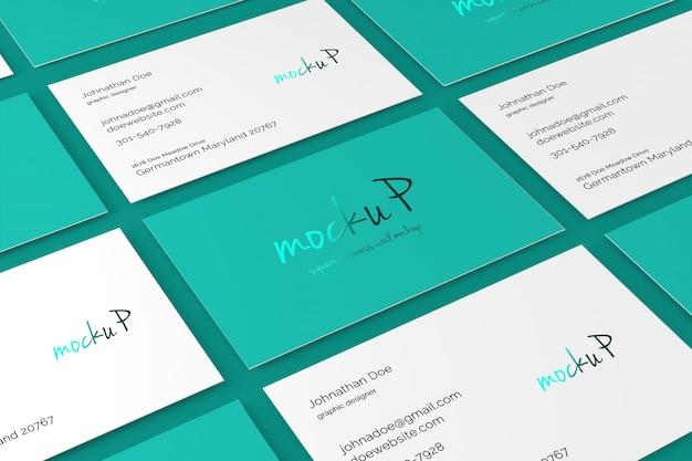 85x55 business card mockup Psd Premium