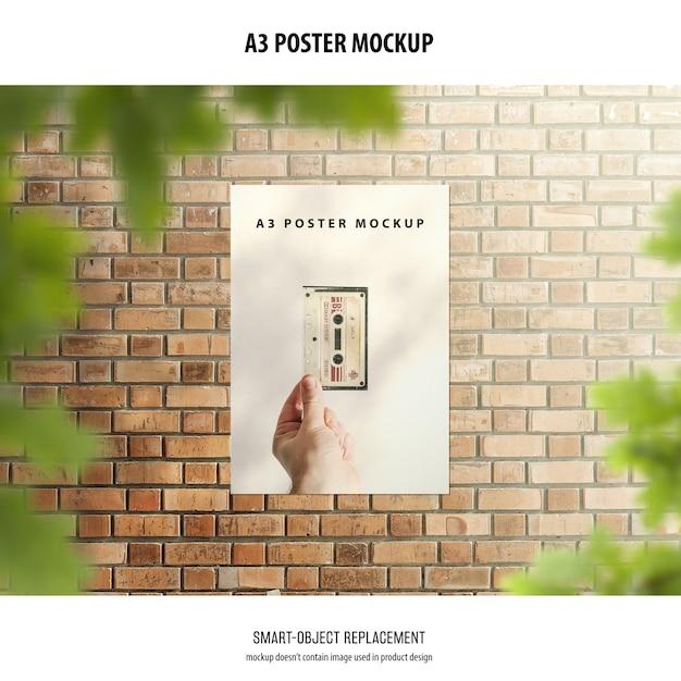 A3 poster mockup Gratis Psd