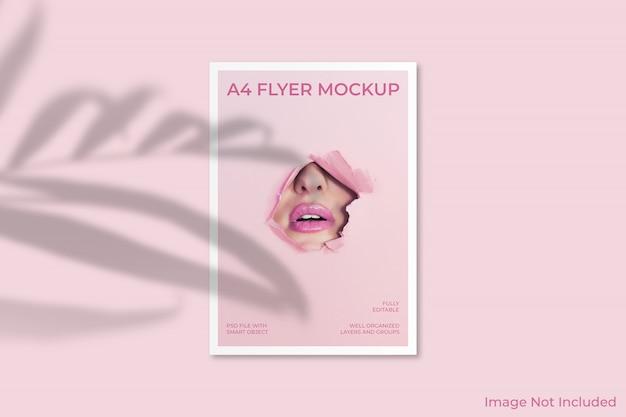 A4 flyer brochure mockup Premium Psd