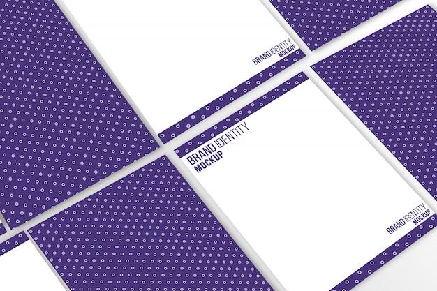 A4-formaat brief hoofd mock-up presentatie Gratis Psd