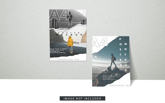 A4 posters mockup vooraanzicht Premium Psd