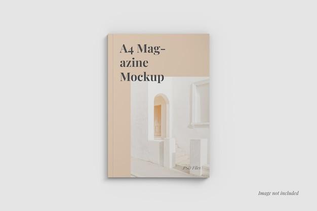 A4 tijdschriftdekking mockup bovenaanzicht Gratis Psd