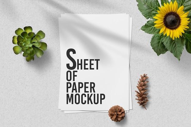 A4 vel papier mockup ontwerp geïsoleerd Premium Psd