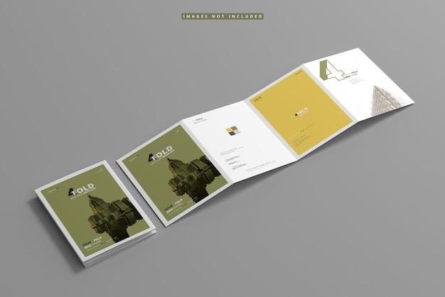 A4 viervoudig brochuremodel Premium Psd