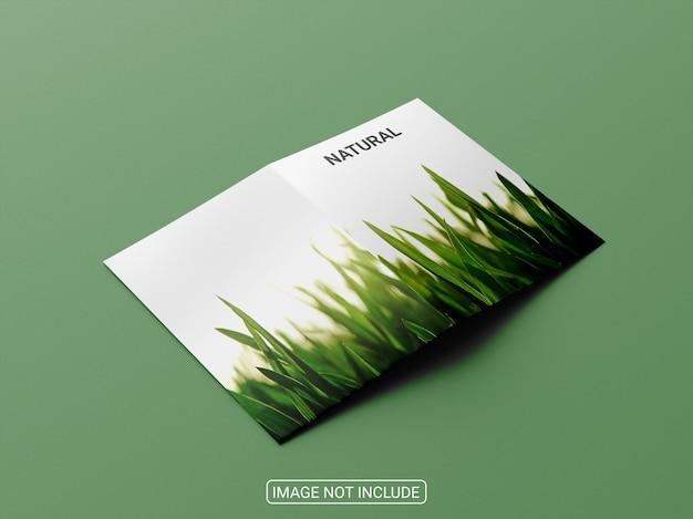 A4a5 tweevoudig brochure mockupontwerp Premium Psd