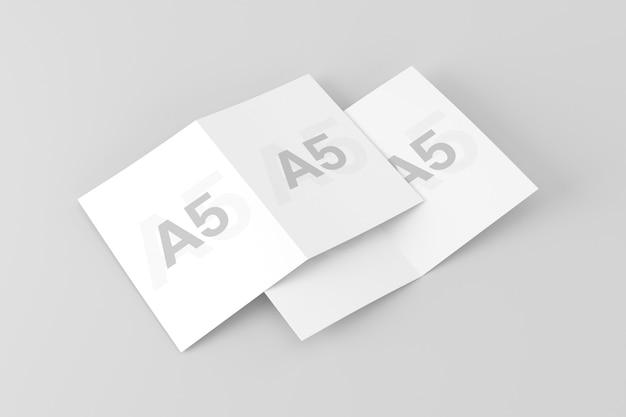 A5 / a5 bifold brochure mockup Premium Psd