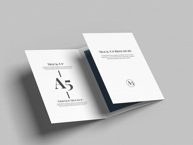A5 driebladige brochure mockup Premium Psd