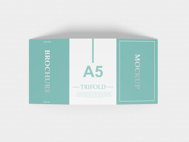 A5 driebladige mockup Premium Psd