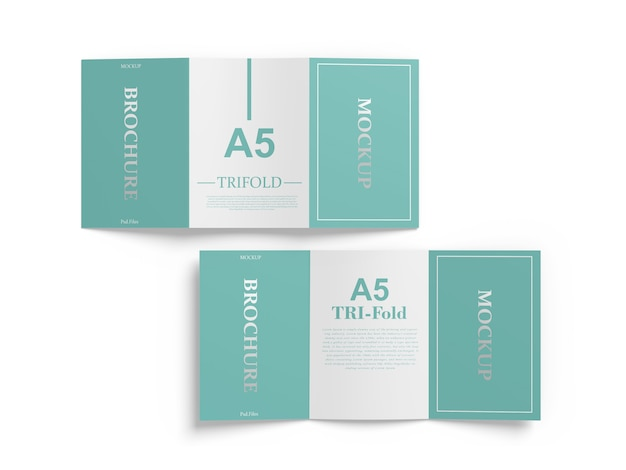 A5 trifold mockup Psd Premium