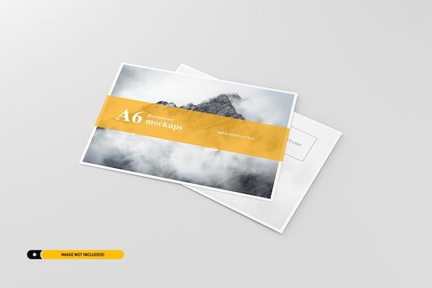 A6 briefkaart / flyer mockup Premium Psd