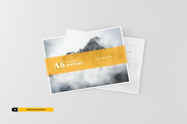A6 cartolina / flyer mockup Psd Premium