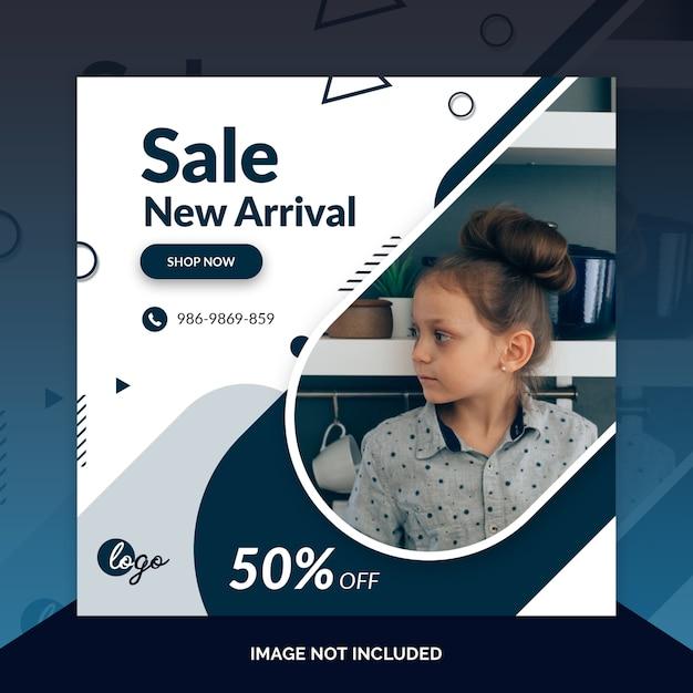 Aanbieding verkoop web sociale media banner sjabloon Premium Psd
