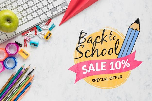 Aanbieding voor terug naar school met 10% korting Gratis Psd