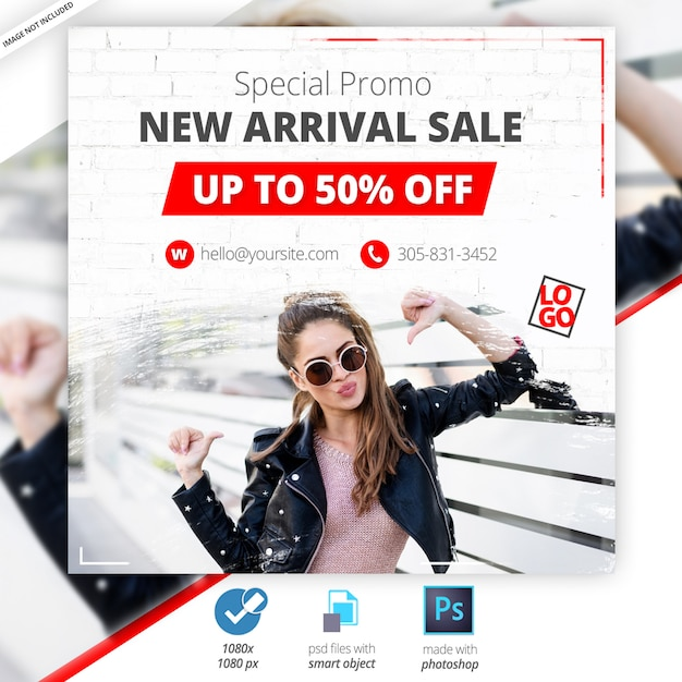 Aanbiedingaanbieding web social media banner Premium Psd