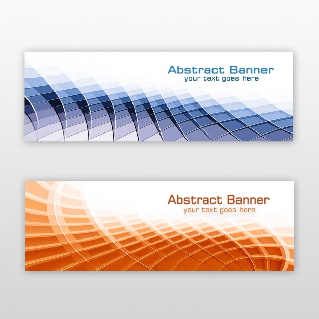 Abstract banners ontwerp Gratis Psd