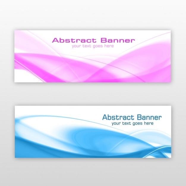 Abstract banners ontwerp Gratis Psd