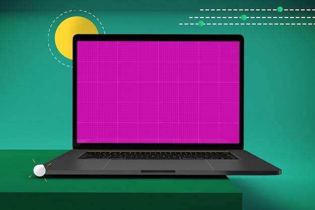 Abstracte laptop mockup Premium Psd