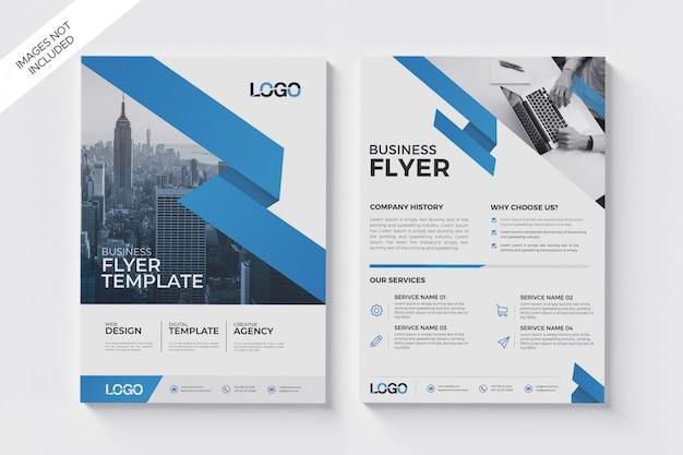 Abstracte moderne flyer poster, moderne brochure sjabloon Premium Psd