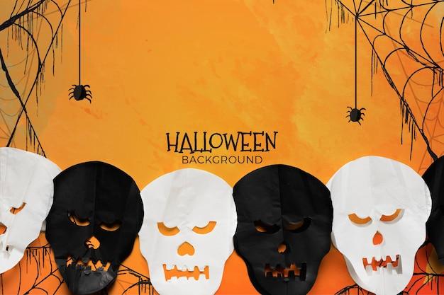 Achtergrond met halloween-concept Gratis Psd