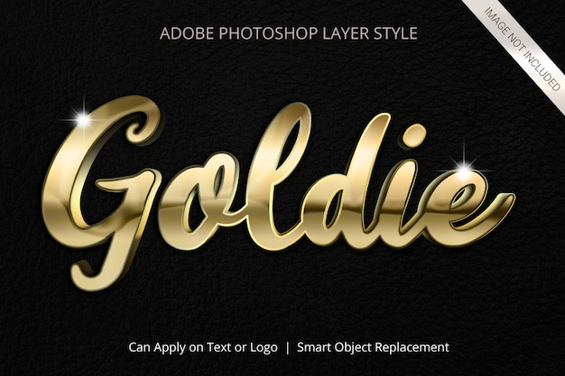 Adobe photoshop layer style text effect Psd Premium