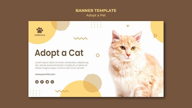 Adotta un design per banner per animali domestici Psd Gratuite