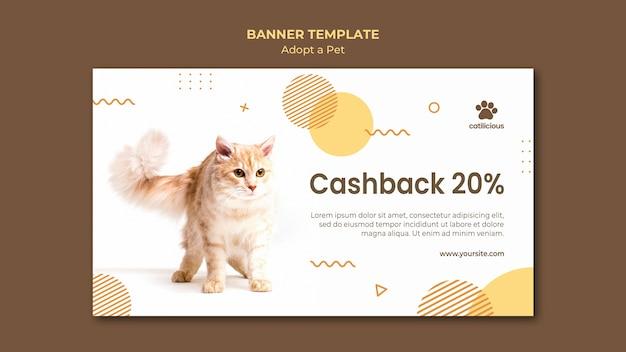 Adotta un modello di progettazione di banner per animali domestici Psd Gratuite