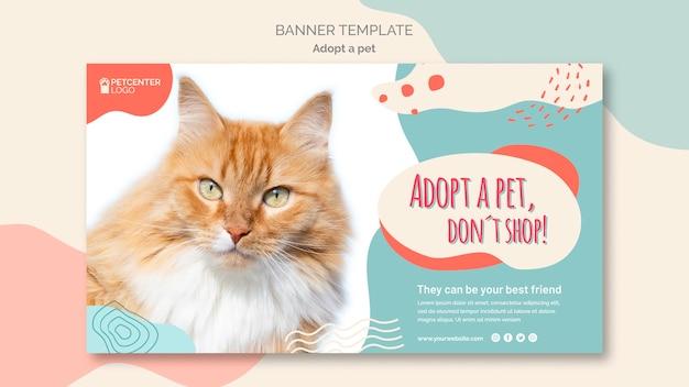Adotta uno stile modello banner per animali domestici Psd Gratuite
