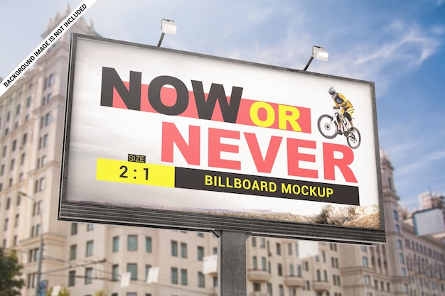 Advertentie billboard mockup Premium Psd