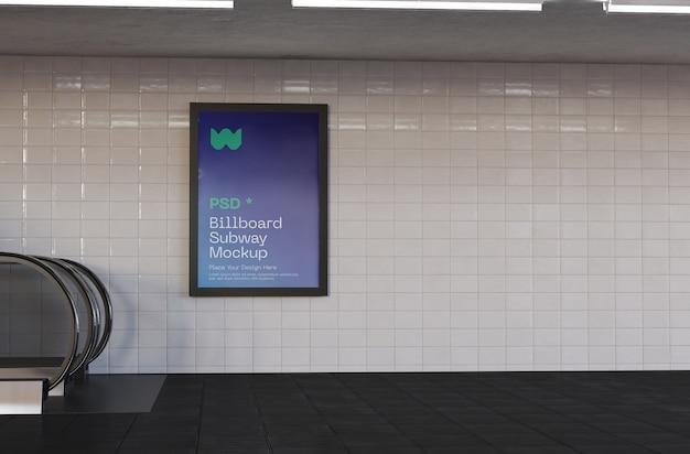 Advertentie in metrostationmodel Premium Psd