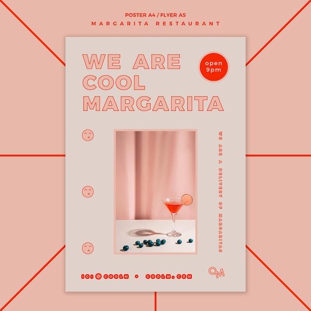 Affiche voor de cocktaildrank van margarita Gratis Psd