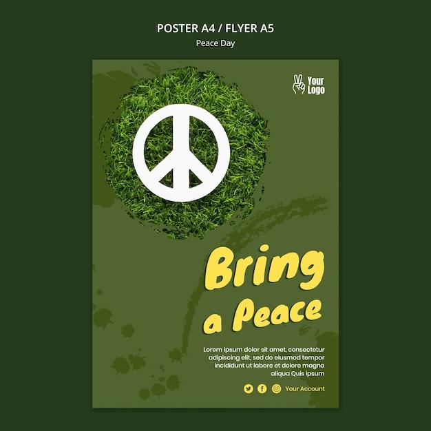 Affiche voor de dag van de wereldvrede Gratis Psd