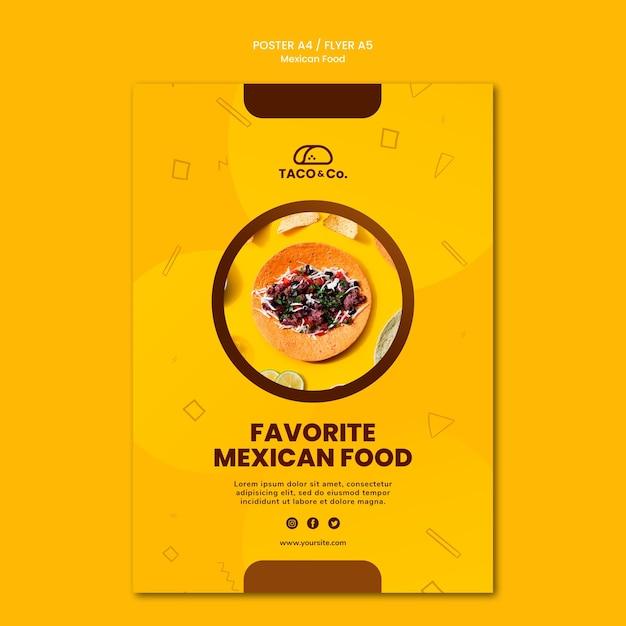Affiche voor mexicaans eten restaurant Gratis Psd