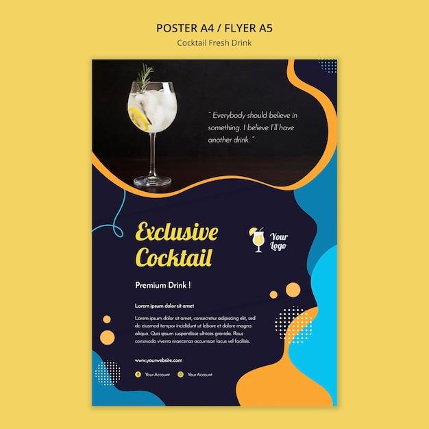 Affiche voor verschillende cocktails Gratis Psd
