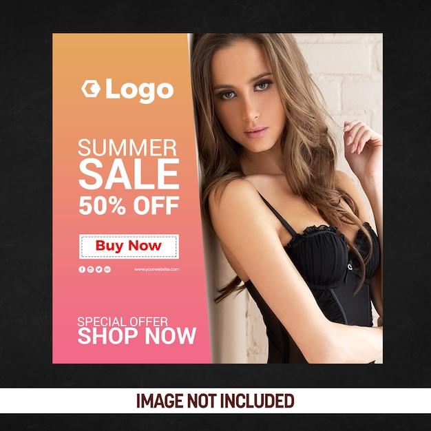 Affiche zomer social media-affiche Premium Psd