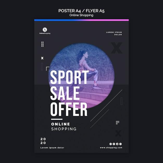 Affichemalplaatje voor online athleisure winkelen Gratis Psd