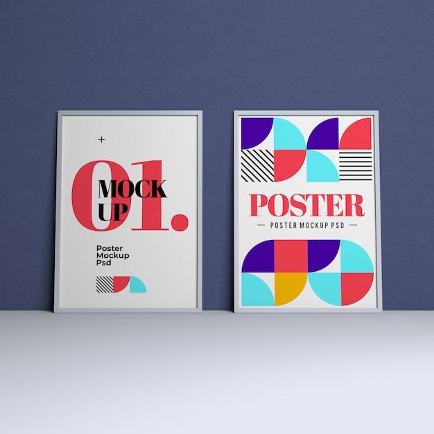 Affichemodel met bewerkbaar ontwerp en veranderlijke achtergrondkleur Premium Psd
