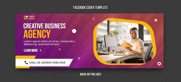 Agentschap moderne facebook voorbladsjabloon Premium Psd