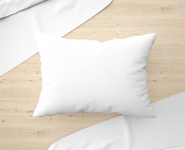Almohada blanca con sábanas en el suelo   Archivo PSD Gratis